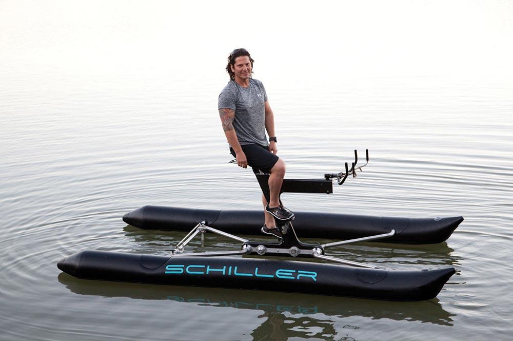 Schiller X1 Water Bike, le v�lo flottant