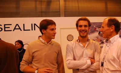 Sealine accueille Jean Eric Vergne au Nautic de Paris