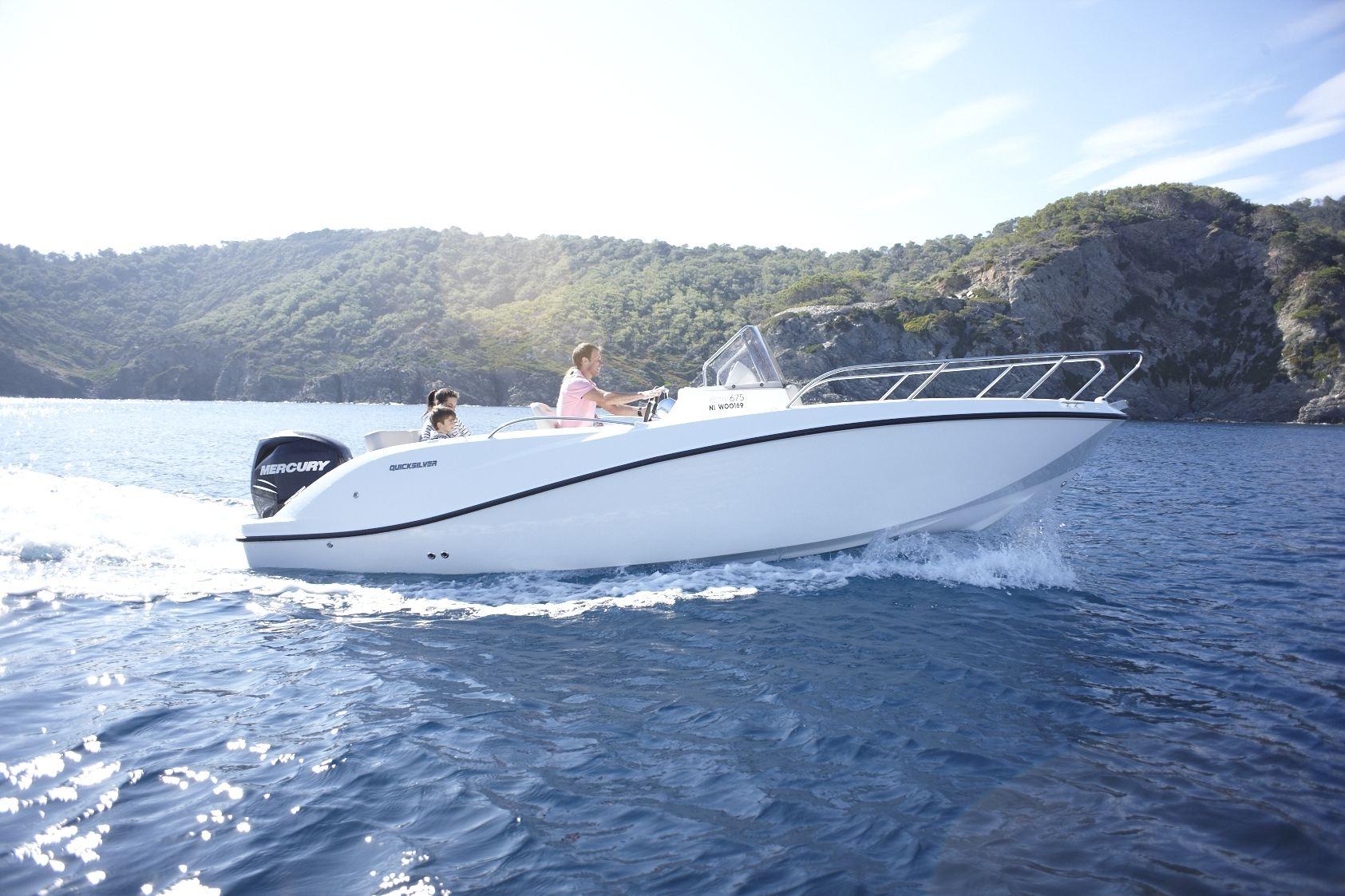 quicksilver activ 675 sundeck occasion annonces de bateau en vente. Black Bedroom Furniture Sets. Home Design Ideas