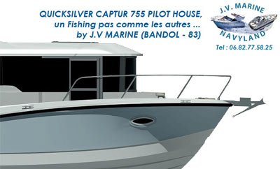 Le Quicksilver Captur 755 PilotHouse en 1ère mondiale à Paris
