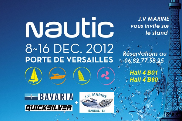 Bavaria, Quicksilver et JV Marine au Nautic de Paris